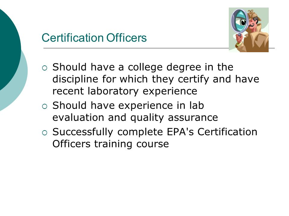 Certification Officers