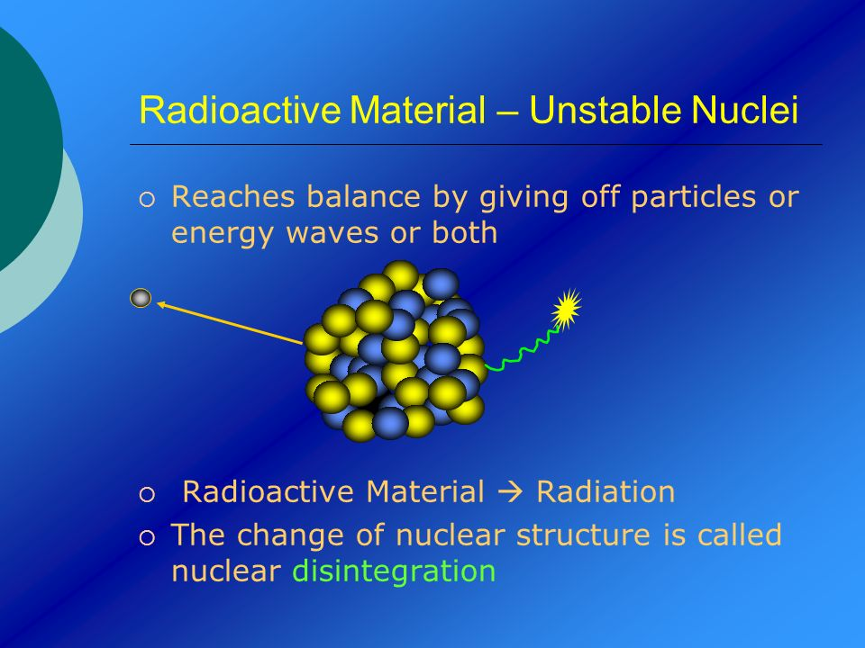 Radioactive Material – Unstable Nuclei