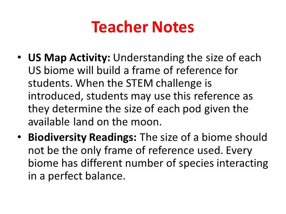 3 Teacher Notes Us Map