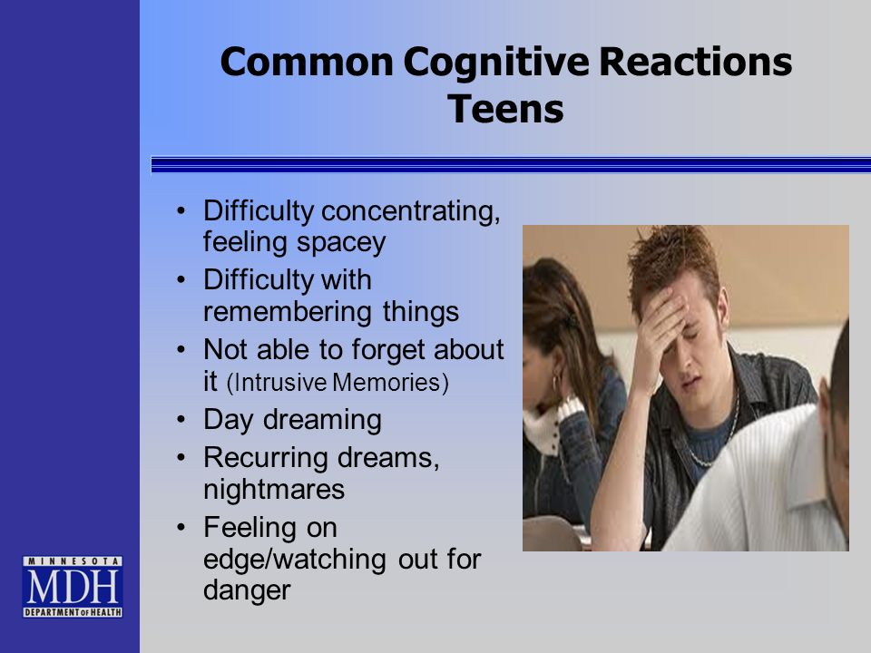 Common Cognitive Reactions Teens