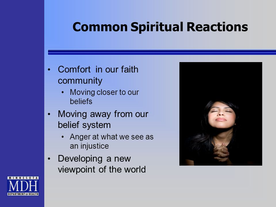 Common Spiritual Reactions