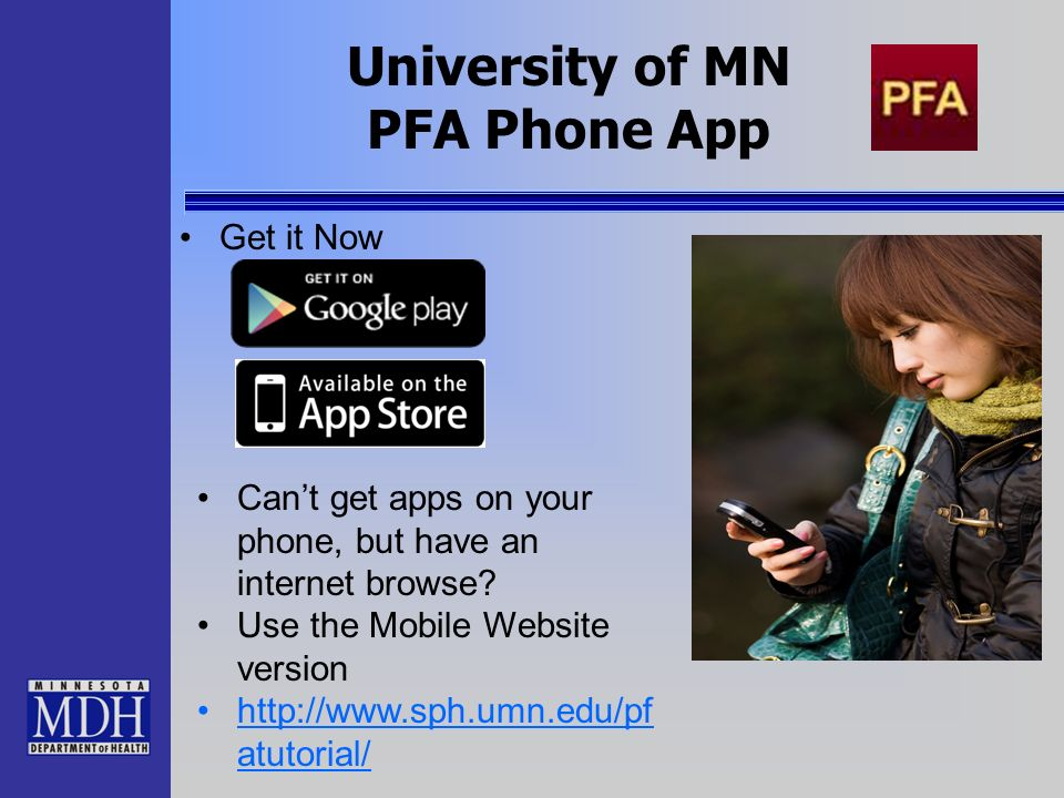 University of MN PFA Phone App