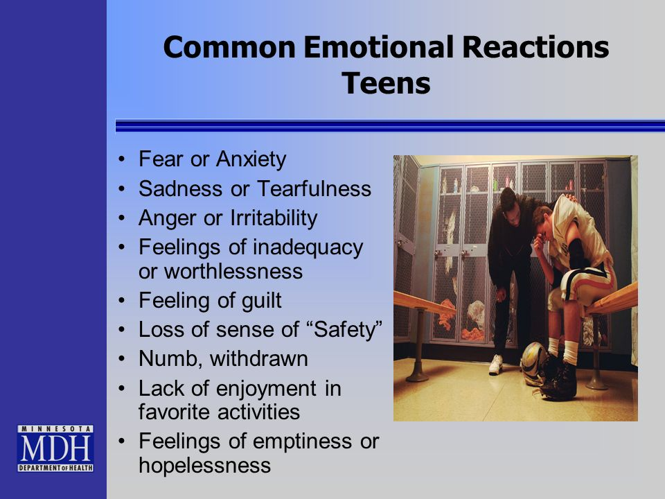 Common Emotional Reactions Teens