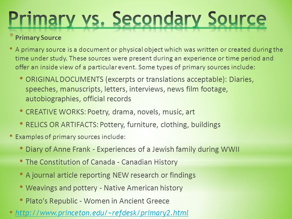 secondary source