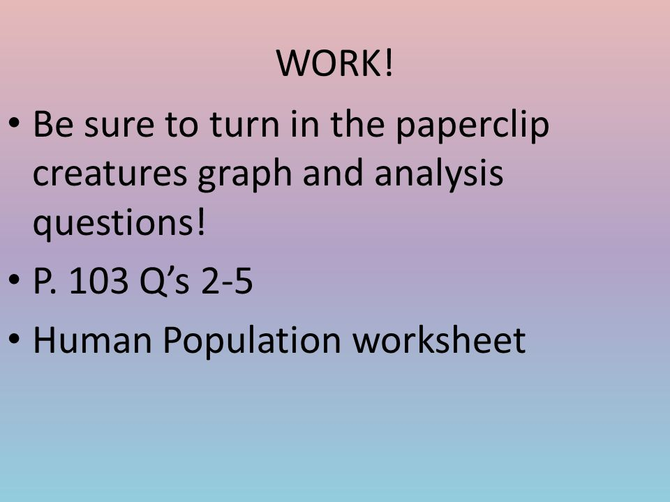 EQ How do populations interact with the environment ppt download – Human Population Worksheet