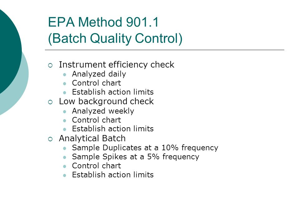 EPA Method 901.1 (Batch Quality Control)