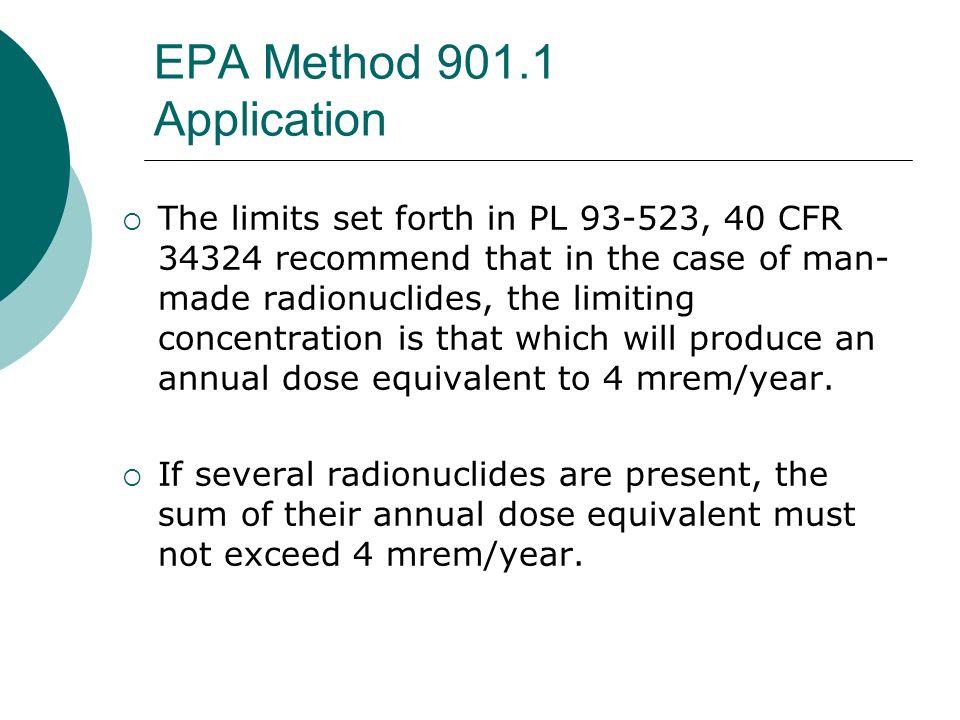 EPA Method 901.1 Application