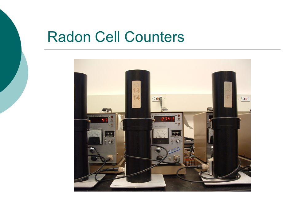 Radon Cell Counters