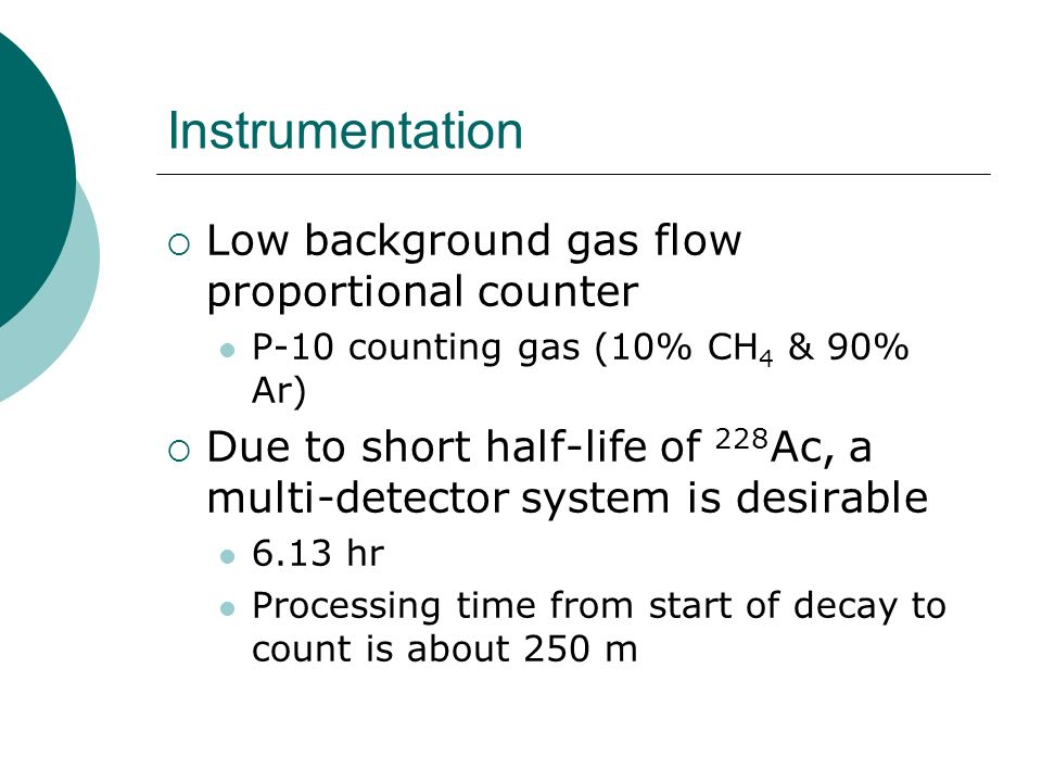 Instrumentation Low background gas flow proportional counter