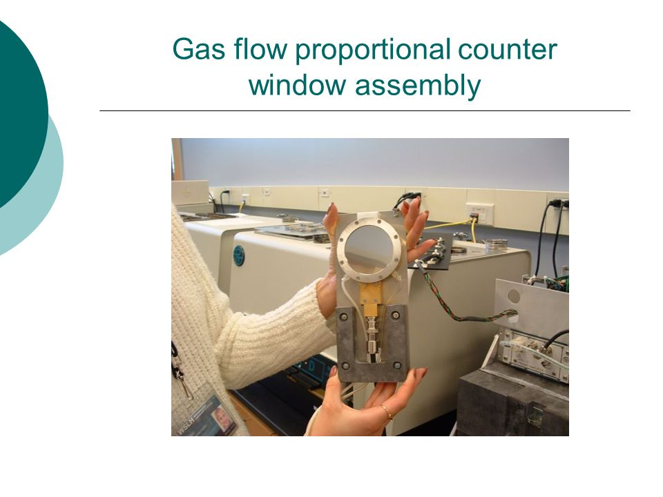 Gas flow proportional counter window assembly