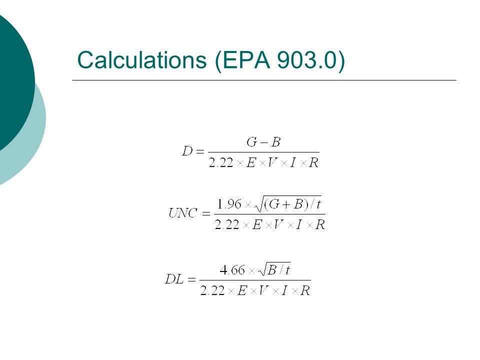Calculations (EPA 903.0)