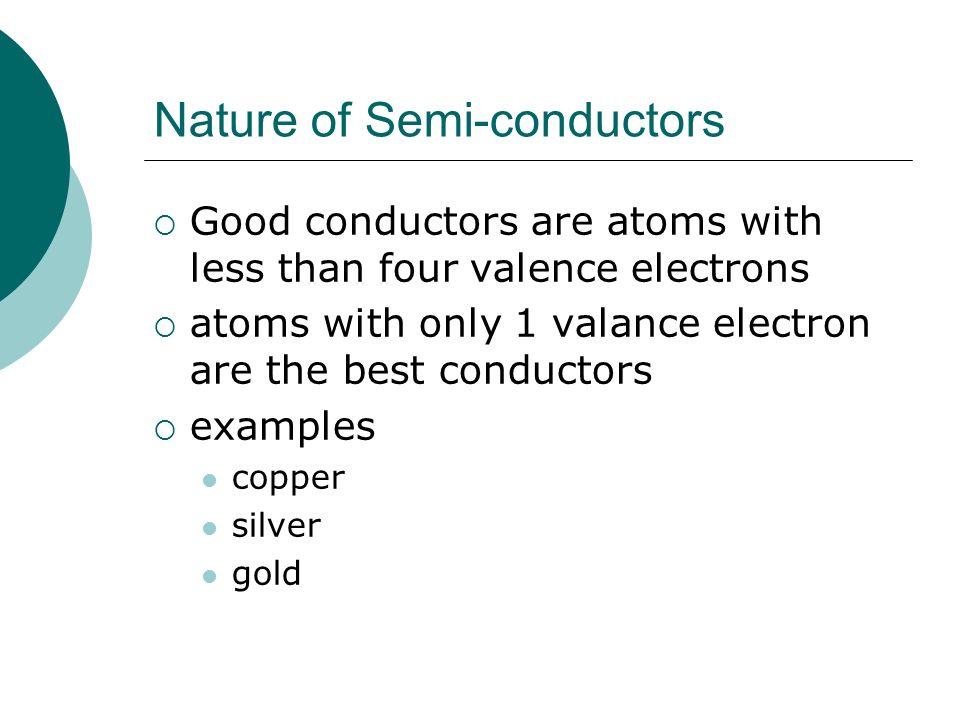 Nature of Semi-conductors