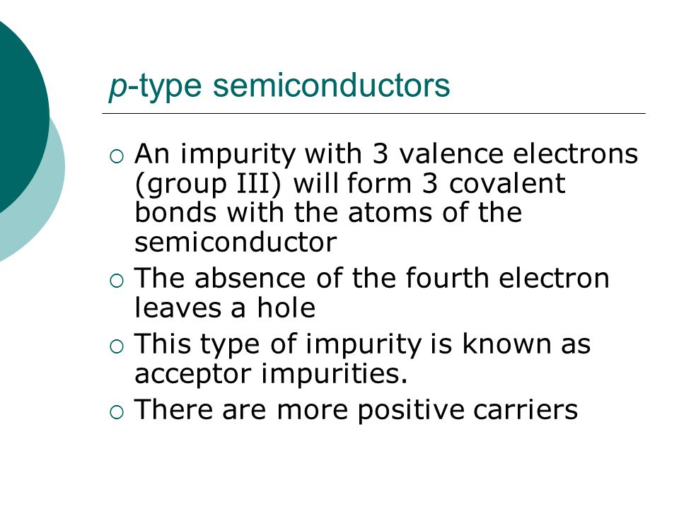 p-type semiconductors