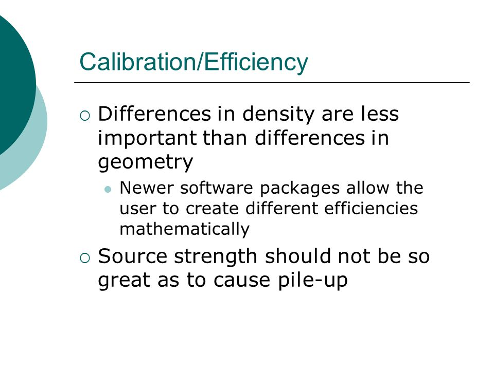 Calibration/Efficiency