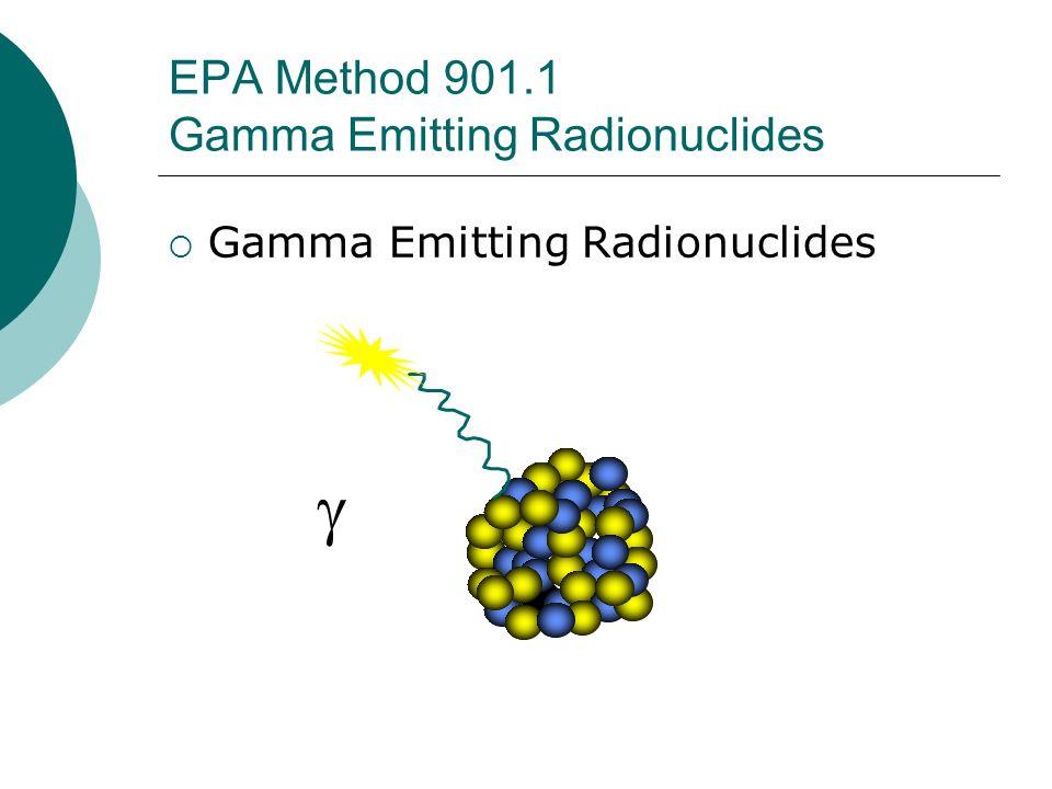 EPA Method 901.1 Gamma Emitting Radionuclides