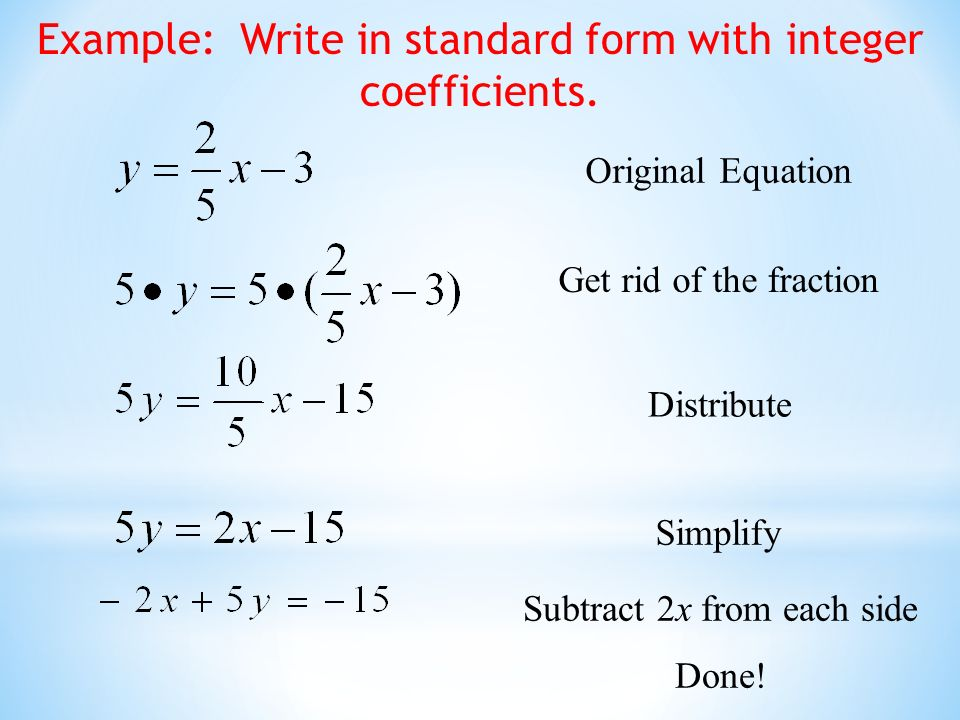 How To Write A Standard Form Equation Dolapgnetband