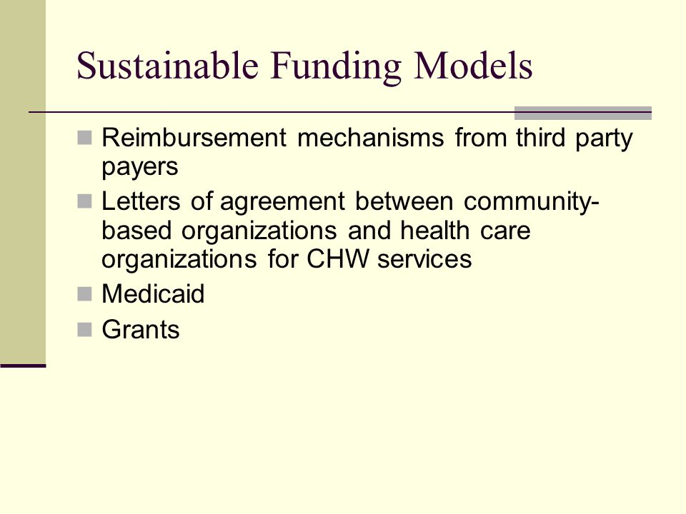 Sustainable Funding Models