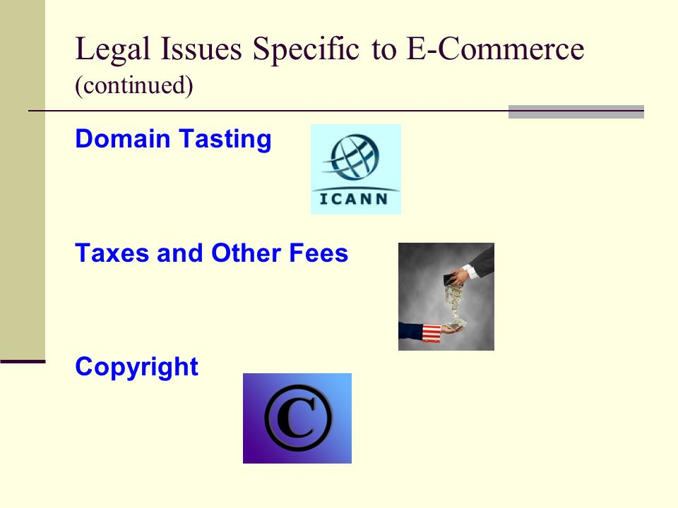 legal issues in e commerce Understand your ecommerce legal considerations before you launch your start selling online.
