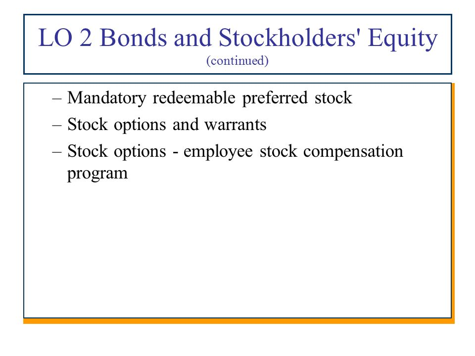 Stock options issued to employees