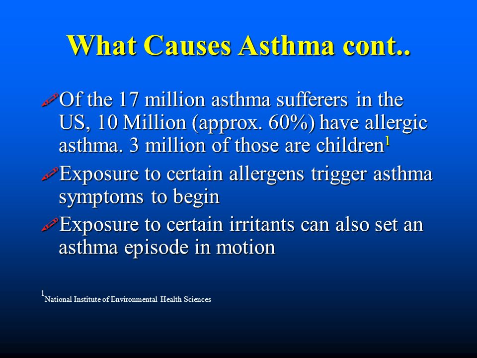What Causes Asthma cont..