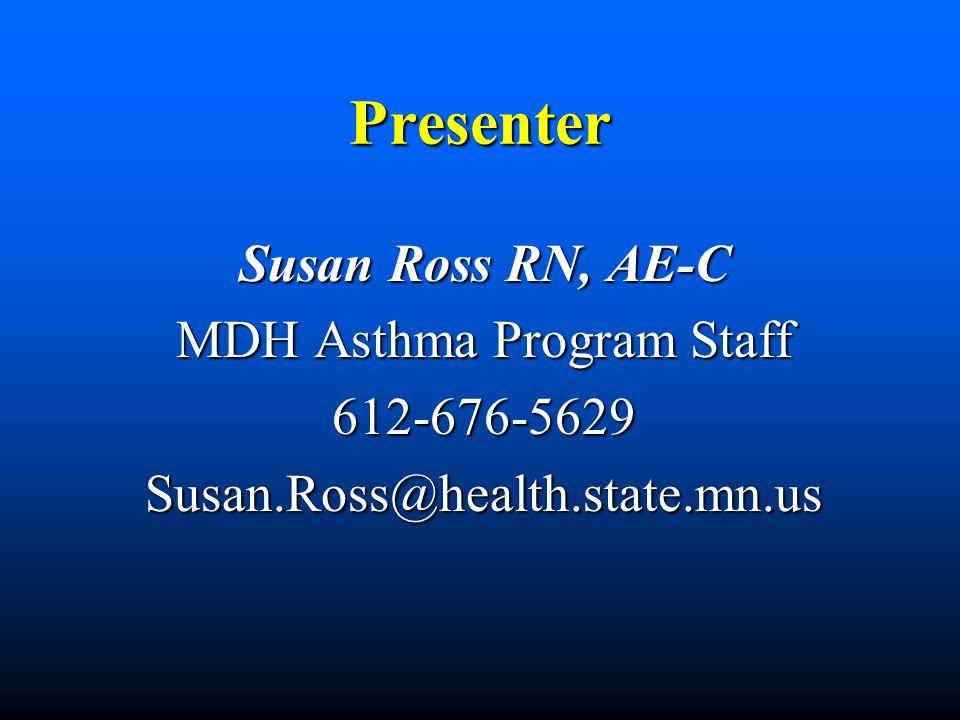 MDH Asthma Program Staff