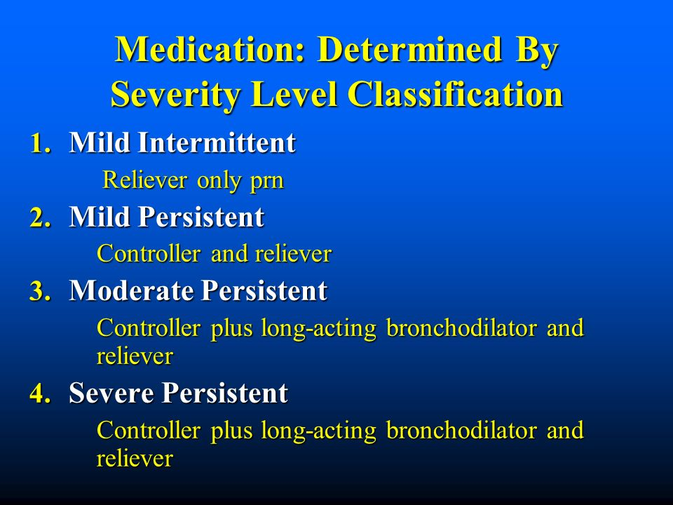 Medication: Determined By Severity Level Classification