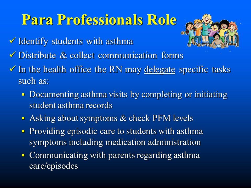 Para Professionals Role
