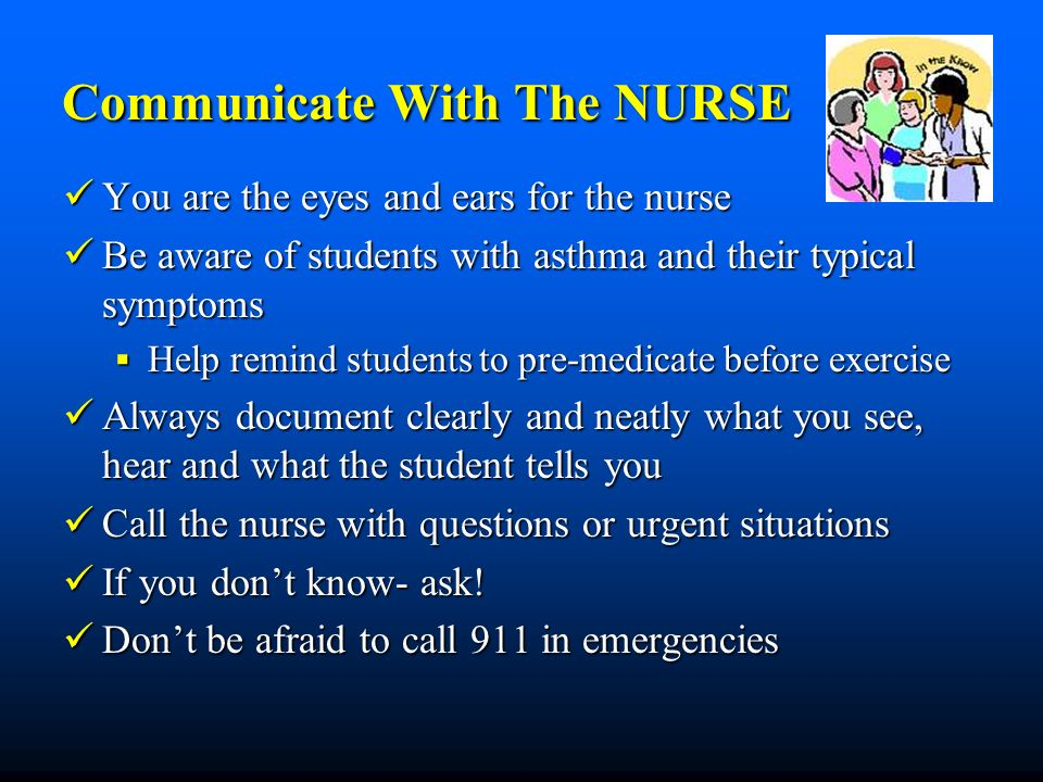 Communicate With The NURSE