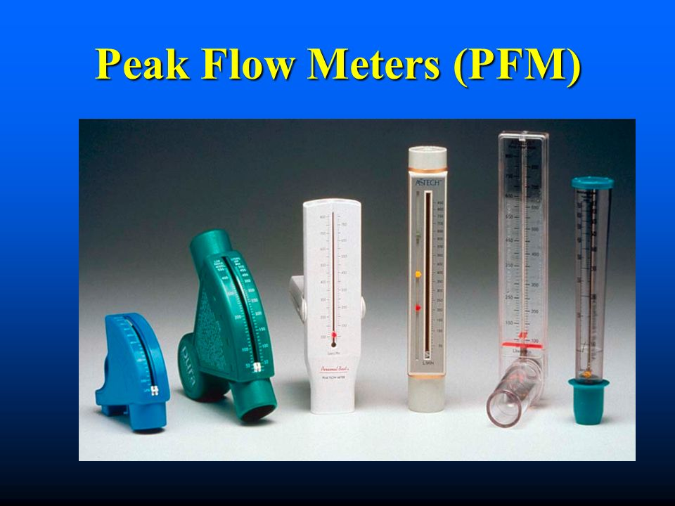 Peak Flow Meters (PFM) Peak flow rates can be evaluated by anyone - as long as you receive training and are confident you can do it properly..