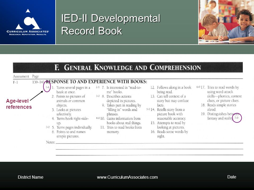 IED-II Developmental Record Book