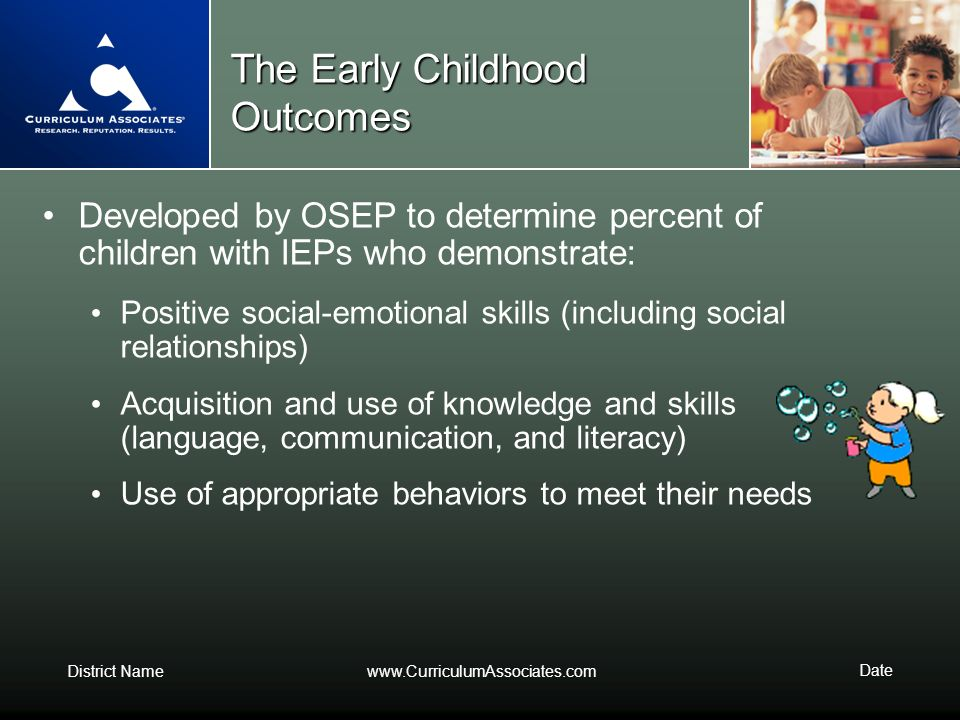 The Early Childhood Outcomes