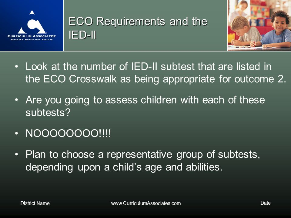 ECO Requirements and the IED-II