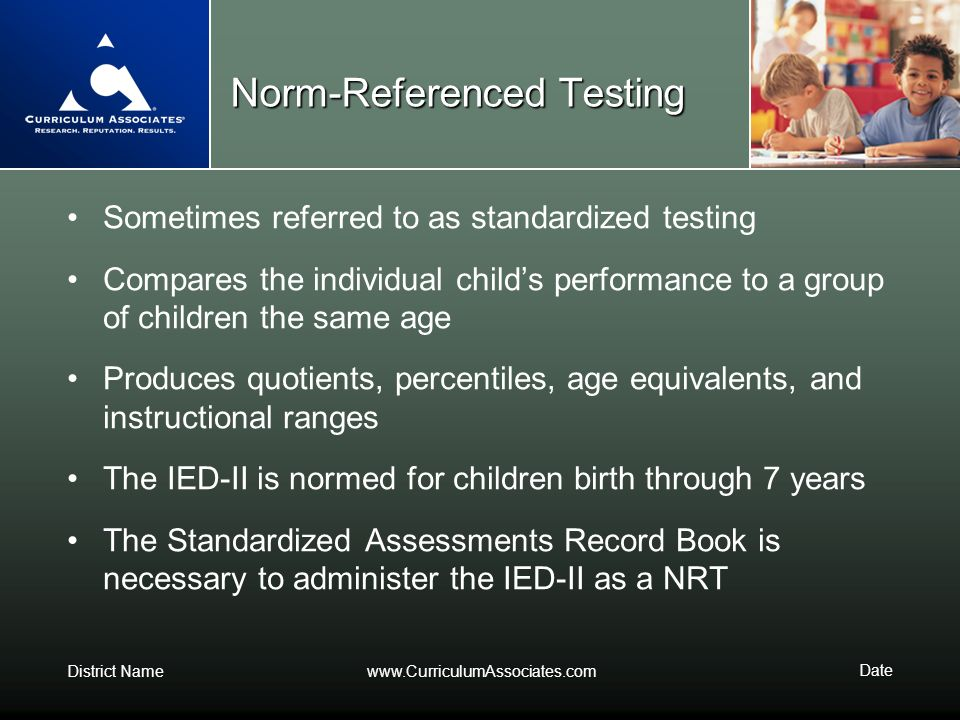 Types of Tests: Norm-Referenced vs. Criterion-Referenced ...