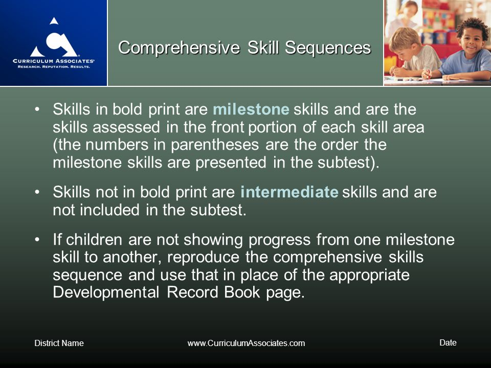 Comprehensive Skill Sequences