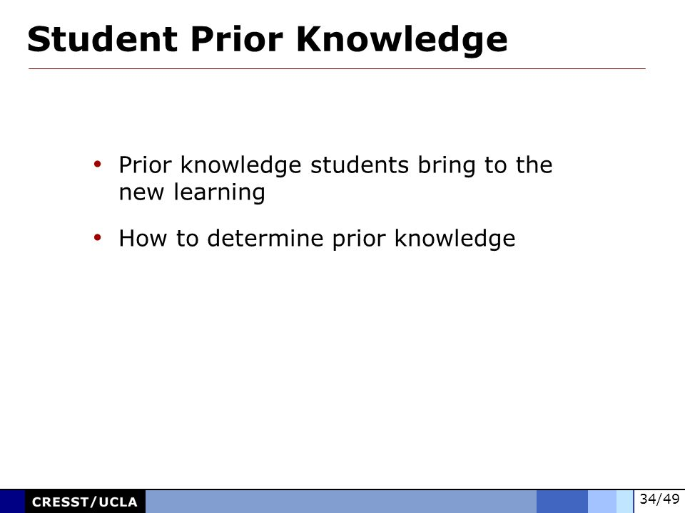 Student Prior Knowledge