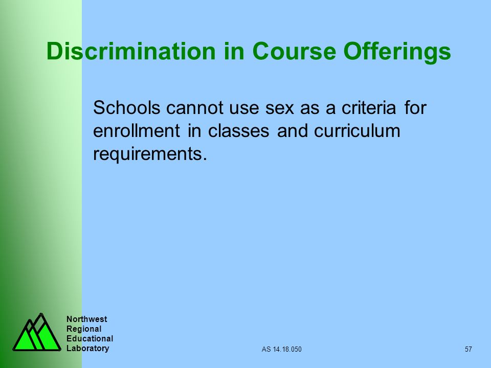 Discrimination in Course Offerings