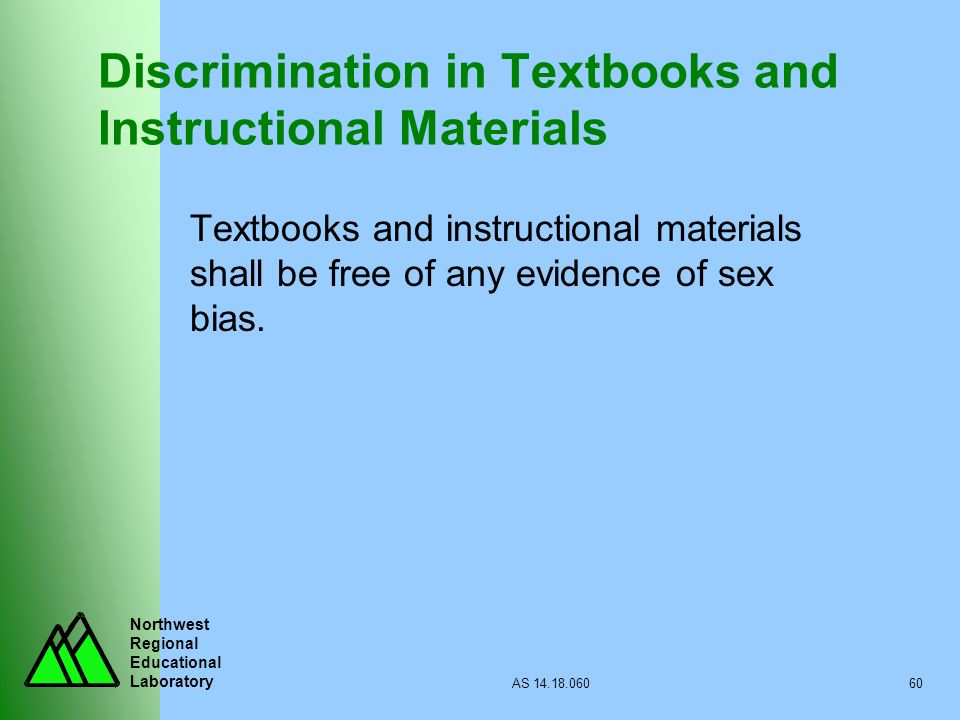 Discrimination in Textbooks and Instructional Materials