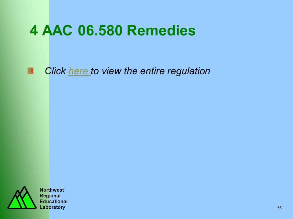 4 AAC 06.580 Remedies Click here to view the entire regulation