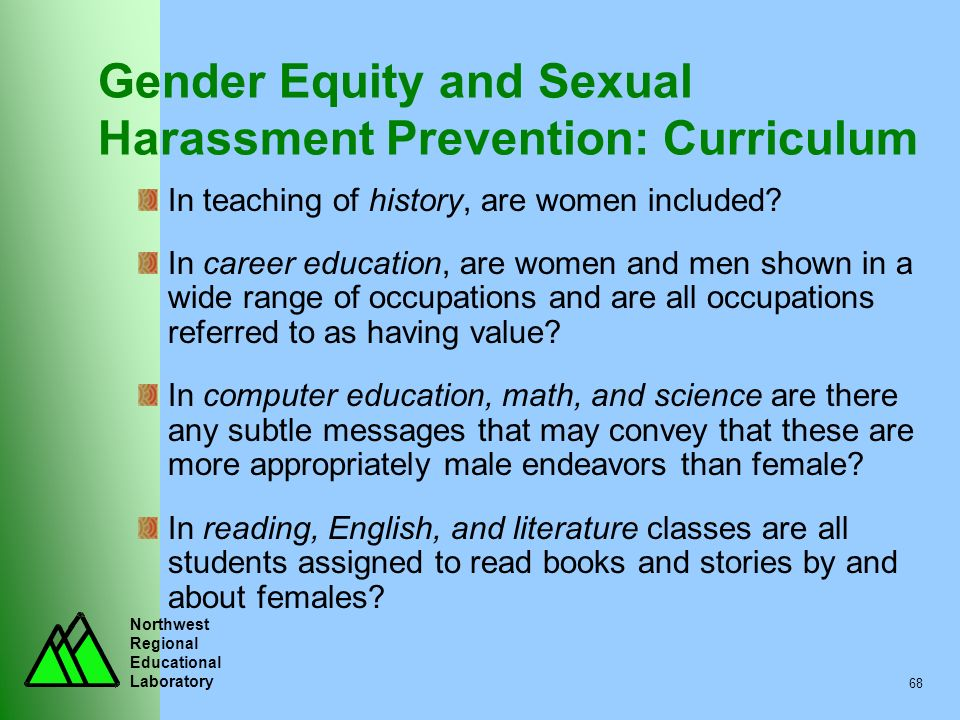 Gender Equity and Sexual Harassment Prevention: Curriculum