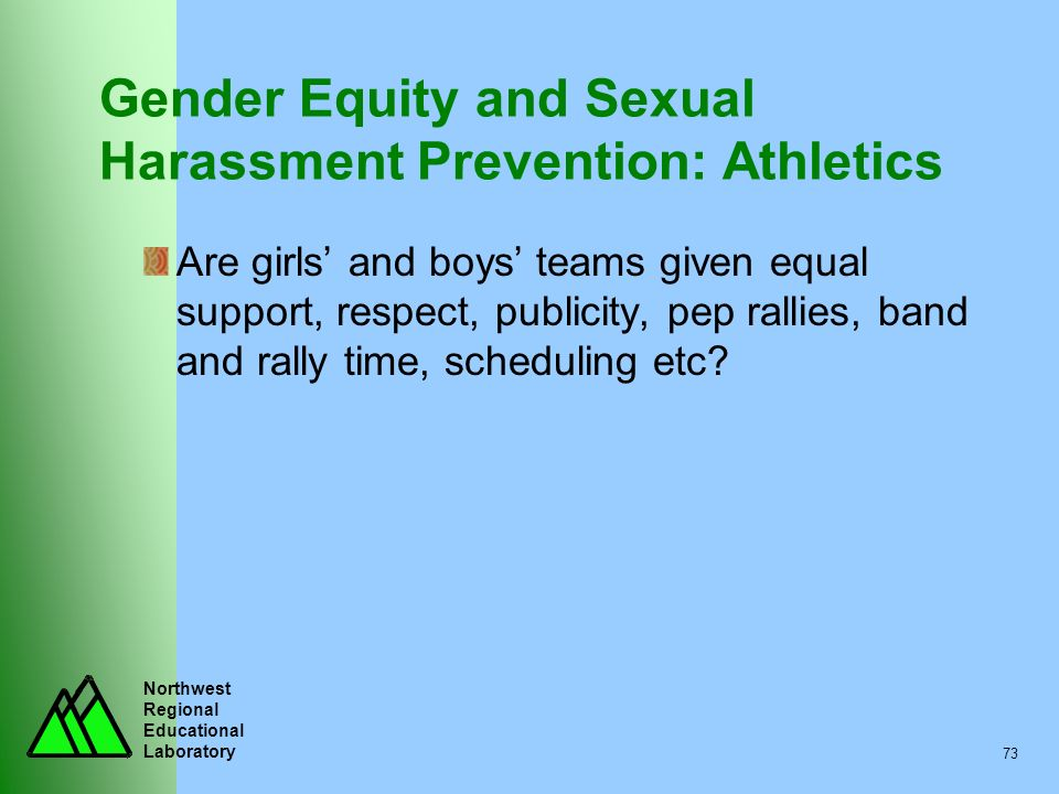 Gender Equity and Sexual Harassment Prevention: Athletics