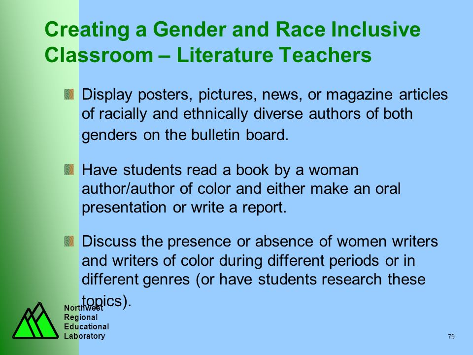 Creating a Gender and Race Inclusive Classroom – Literature Teachers