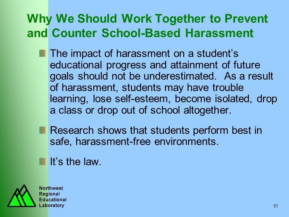 Why We Should Work Together to Prevent and Counter School-Based Harassment