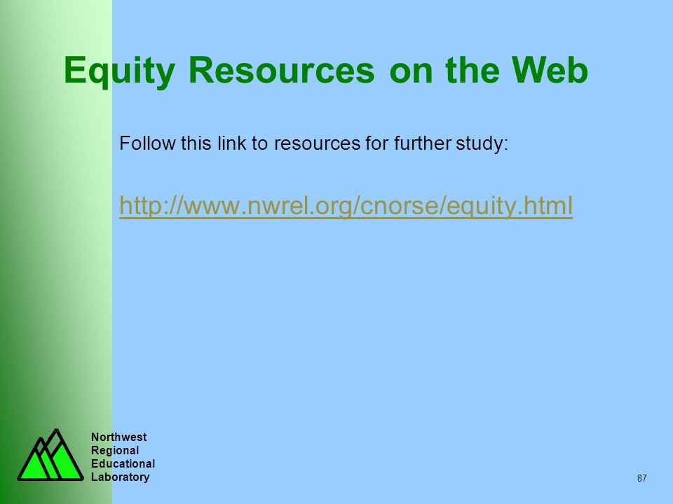 Equity Resources on the Web