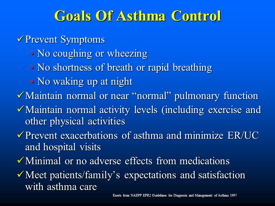 Goals Of Asthma Control