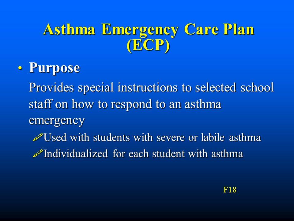 Asthma Emergency Care Plan (ECP)