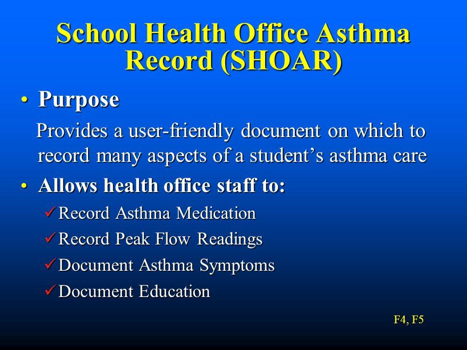 School Health Office Asthma Record (SHOAR)