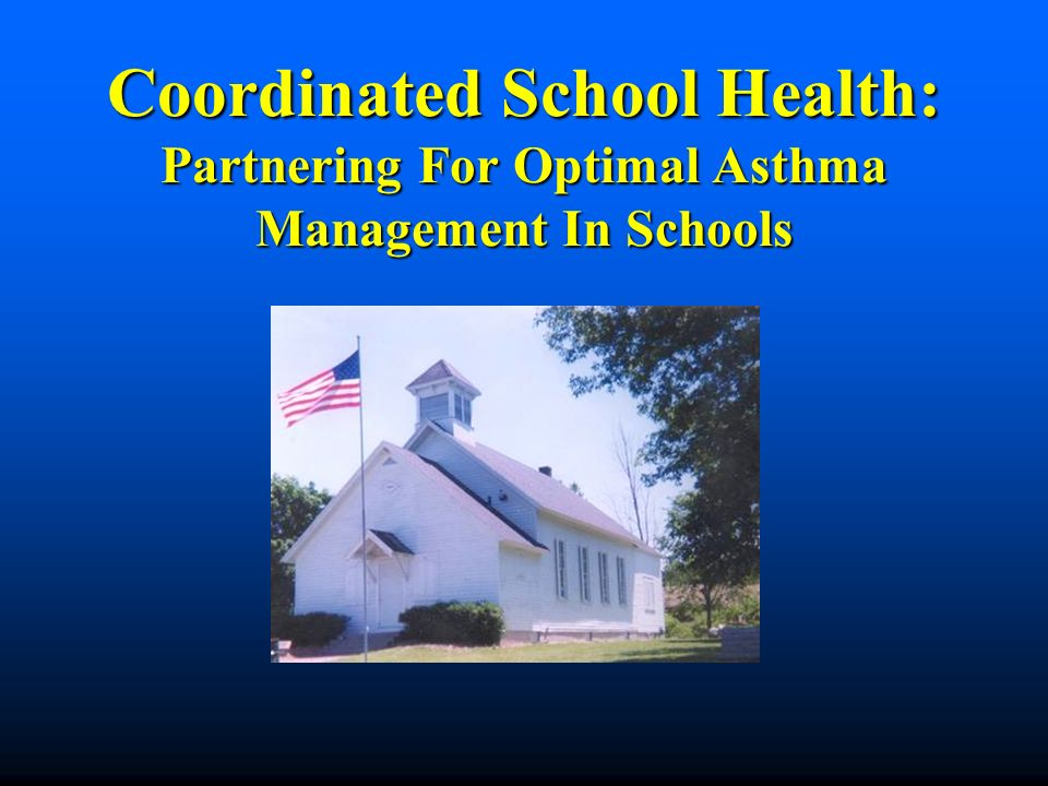 Coordinated School Health: Partnering For Optimal Asthma Management In Schools