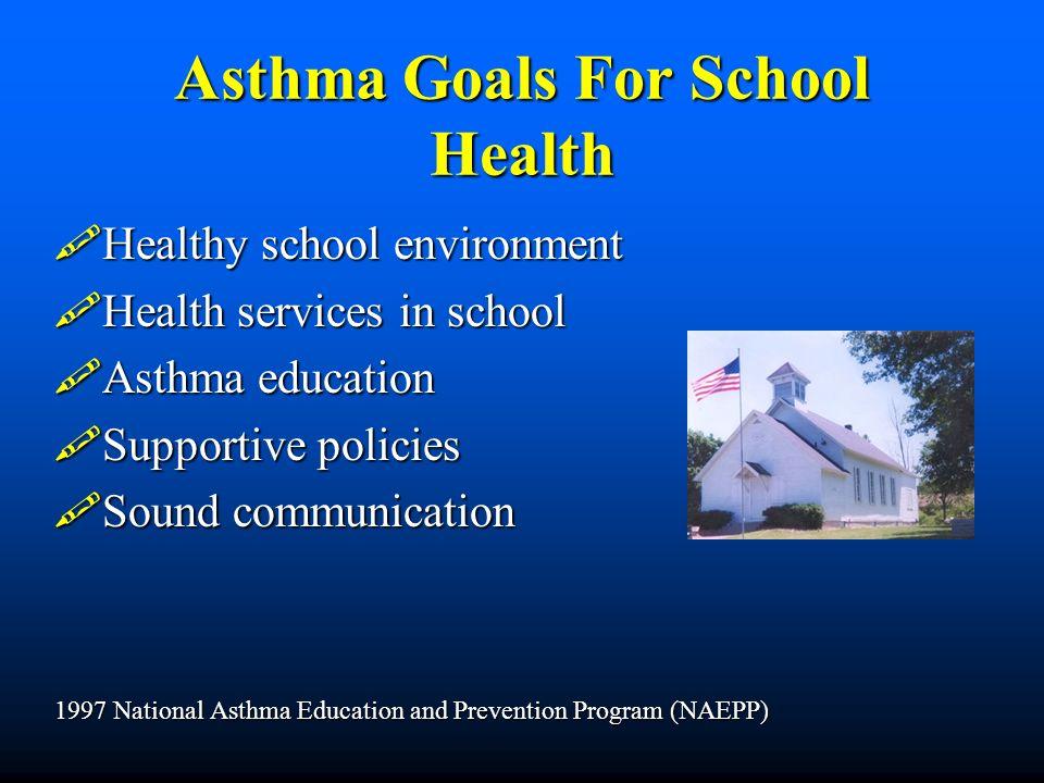 Asthma Goals For School Health