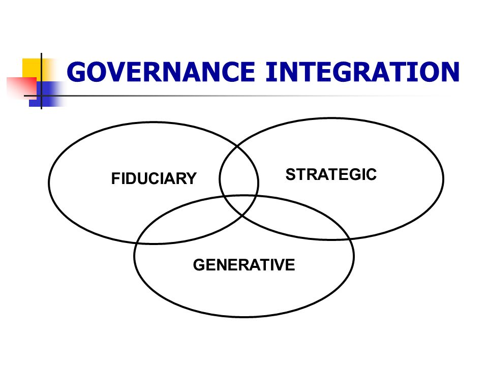 GOVERNANCE INTEGRATION