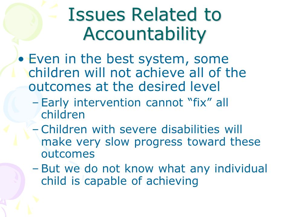 Issues Related to Accountability